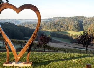 MBA FH Joanneum, Landschaft mit Herz bei Bad Gleichenberg