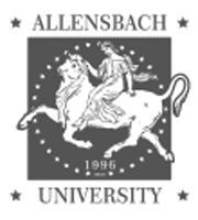 Logo Allensbach University graustufen