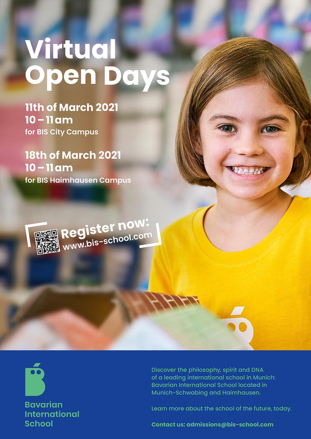 BIS, Flyer Virtual Open Days