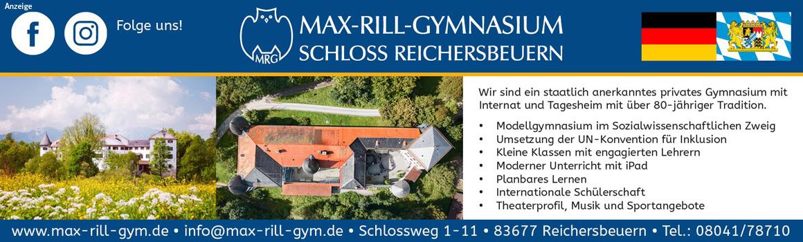 Anzeige Max-Rill-Gymnasium